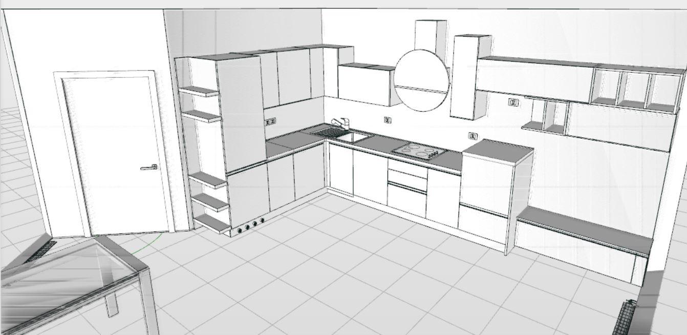 Disegnare cucine online elegant moderna luce del pendente for Disegnare cucina on line